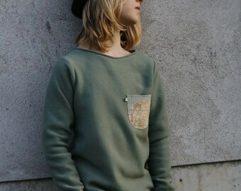 """Sweater """"mint"""" with bag"""