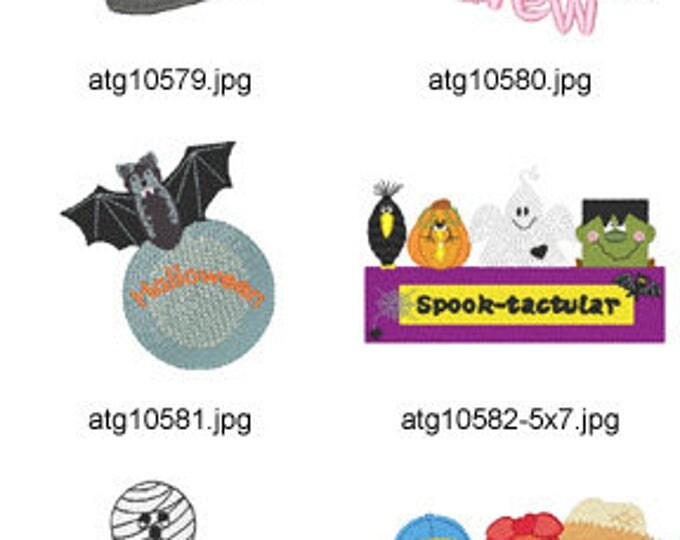 Halloween-Delight ( 21 Machine Embroidery Designs from ATW ) XYZ17F