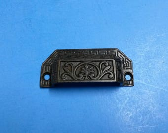Antique Drawer Pulls, Cast Iron Victorian, Lot of 8 Each, ca. 1873