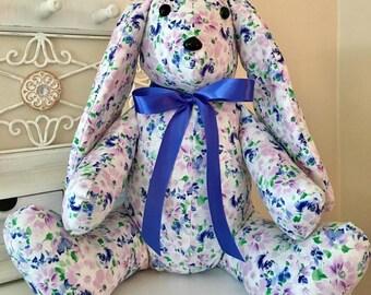 Stuffed Bunny, Stuffed Easter Bunny, Bunny, Stuffed Animal: Bunny, Spring Bunny, Fabric Stuffed Bunny,