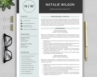 Professional and Modern Resume Template for Word | CV Template for Word | Creative Resume Template | Resume Template Instant Download