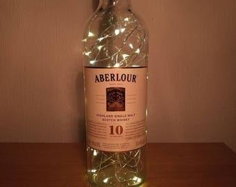 Upcycled Aberlour 10 Year Old Whisky LED Light Bottle