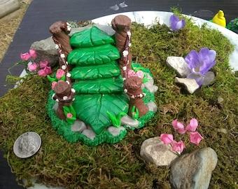 Stairs, miniatures, fairy garden, gnome garden, handmade, polymer clay