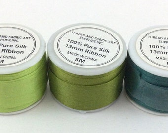 ThreadArt 13mm Silk Ribbon (5 meters) Sold by Individual Spools
