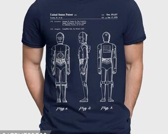 Star Wars C-3PO T-Shirt Gift For Star Wars Fan, C3PO Shirt For Starwars Fan, Gift Idea For Star Wars Husband, Star Wars Gift For Him P378
