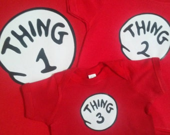 Thing 1 Thing 2 3 4 5 9 16 etc. infant toddler youth adult Thing One Thing Two Custom Too