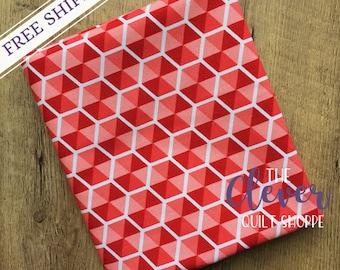 SALE! Quilting Fabric, Pink Desert Hexies of Desert Bloom by Amanda Herring for Riley Blake Designs, Yardage