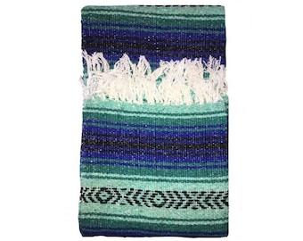 Mexican Blanket - Beach Blanket - Southwest Print - Serape