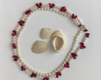 Pearl and Jade Necklace two strand,Wedding jewellery ,Valentine gift