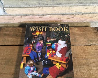 The Great American Wish Book , 1992 , Sears Christmas Book , Christmas Department Store Cataloge , Vintage Advertisment , Toy Ads