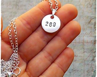 Collar 269 Vegan, collar para hombre vegano, para hombre, regalo para hombre, hombre vegano, derechos animales, vaca, liberacion animal, 269