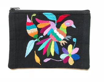Otomi clutch, otomi purse, otomi bag, otomi art, otomi embroidery, mexican bag, embroidered bag, otomi fabric, mexican purse, mexican wallet