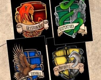 Harry Potter Hufflepuff House postcard