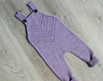 Baby Knit Romper / Knit Baby Romper / Knitted baby pants/ Knit baby outfit