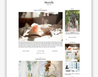 LIMITED! Marielle | Responsive Minimalist Premade Blogger Template