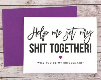 Will You Be My Bridesmaid Card, Will You Be My Maid of Honor Card, Funny Bridesmaid Card, Funny Bridesmaid Proposal - (FPS0025)