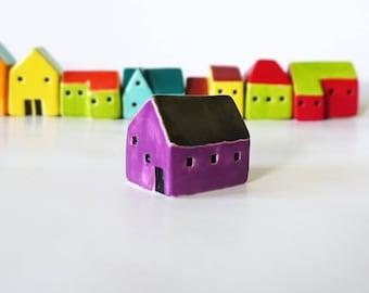Handmade Ceramic Purple House