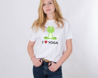 Yoga Shirt Printed Shirt Yoga Lover Shirt Yoga Tee Funny T-shirt Funny Tee Animal Print Shirt Graphic Tee Printed Shirt for Woman Men PA1225