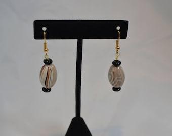 Handmade Beaded pierced dangle EARRINGS #240