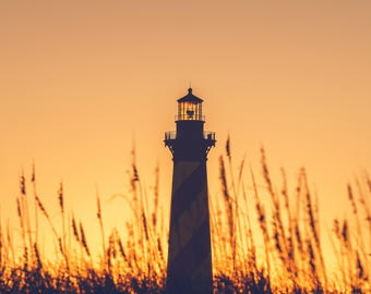 Cape Hatteras Lighthouse, North Carolina, Outer Banks, Beach Photography, National Seashore, Sunset Photography, Sea, sea dunes, obx