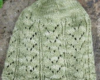 Lace Knit Cap Ladies Knitting Pattern