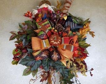 Fall Door Hanger, Autumn Door Hanger, Harvest Wreath,Thanksgiving Wreath, Autumn Wreath, Fall Decor, Holiday Decor