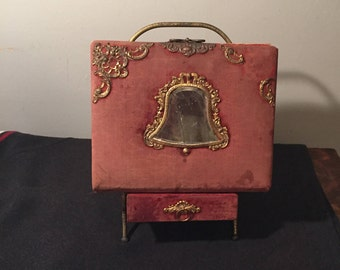 Antique 1800's Victorian Photo Album WITH Matching Stand