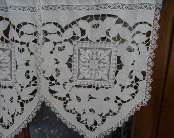 small French antique linen curtains