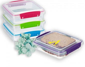 Personalized sandwich box- Sandwich container- School container- Daycare container
