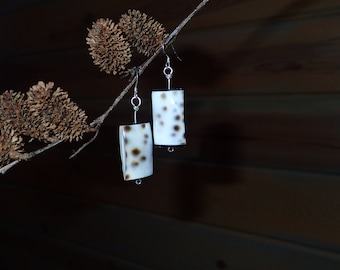 Spotted Shell Earrings