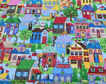 Houses All Over Cotton Fabric from Timeless Treasures