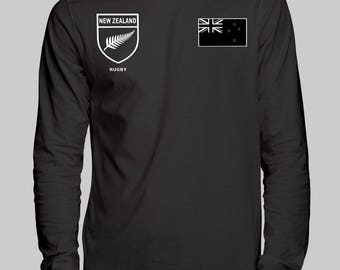 New Zealand Rugby Unisex Long Sleeve T-Shirt