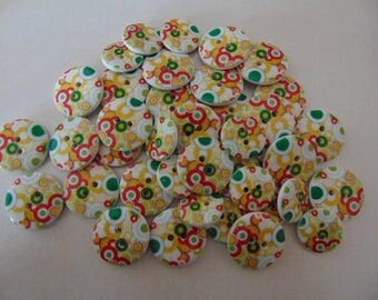 set of 19 round buttons