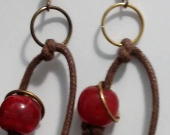 From the Red-ish Collection:  Rope Buds - Red, Purple, Green
