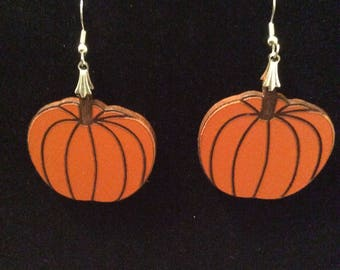 Halloween pumpkin earring