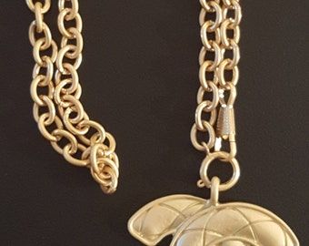 Chanel inspired  gold long cc chanel like gold necklace.  Coco chanel jewelry long  necklace.