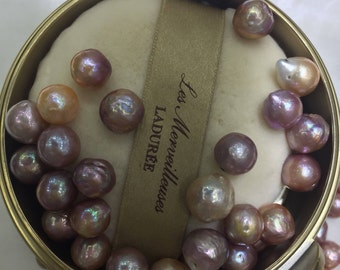 10-11mm Rainbow color Edition pearl loose pearls for made earrings
