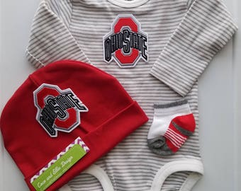 ohio state baby boy outfit-ohio state baby boy shower gift-Ohio State baby/ohio state baby game day outfit/baby ohio state/baby buckeye