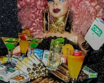 Cigar & Cigarette ooak barbie doll