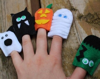 Halloween Finger Puppets, Busy Box, Activity box, kids box, trick or treat, fall