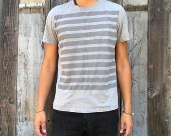 90s Calvin Klein Striped T-Shirt | Vintage Calvin Klein T-Shirt | Striped Calvin Klein T-Shirt | Calvin Klein Tee | Mens Vintage Clothing