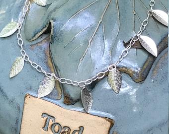 Silver Leaf Bracelet Anklet