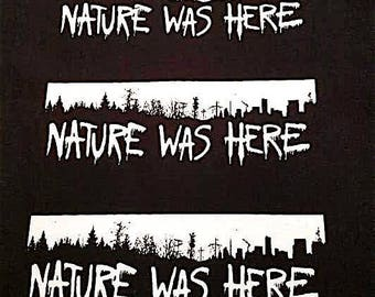 Nature Was Here canvas patch