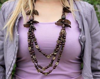 tribal jewelry ethnic jewelry ethnic necklace african jewelry Wooden jewelry Wooden necklace Wood jewelry Wood Bead necklace Wood necklace