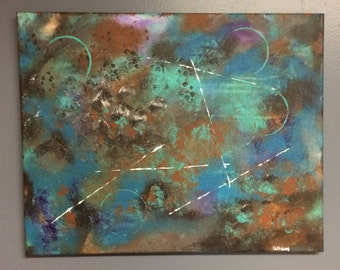 Original Painting, Acrylic, Abstract, Canvas