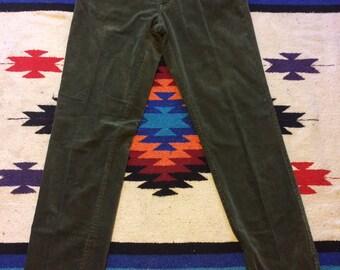 90's Swamp Green Gap Corduroy Straight Leg Pants