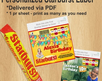 Starburst Personalized Labels
