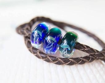 Beads pandora - sea jellyfish. Glass bead. Bracelet bead. Charm bead. Charm braselet. Pandora bead bracelet. Lampwork bead jellyfish.