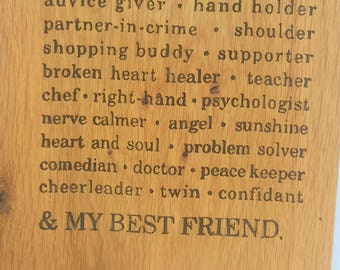 oak sign - oak plaque - personalised - mothers love - rustic wall art - room decor  - christmas present - house warming - best friend