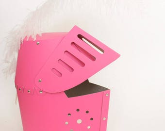 Hot Pink Knights Helmet| Childrens Knight Helmet